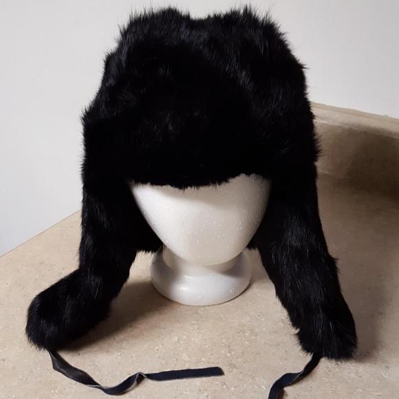c275f94bc60 Surell 100% Rabbit fur trapper or deerstalker hat.  M 5ba1a8229519969f95e0c56f